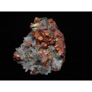 Realgar & Mineral Crystal Mix - Palomo Mine-4728