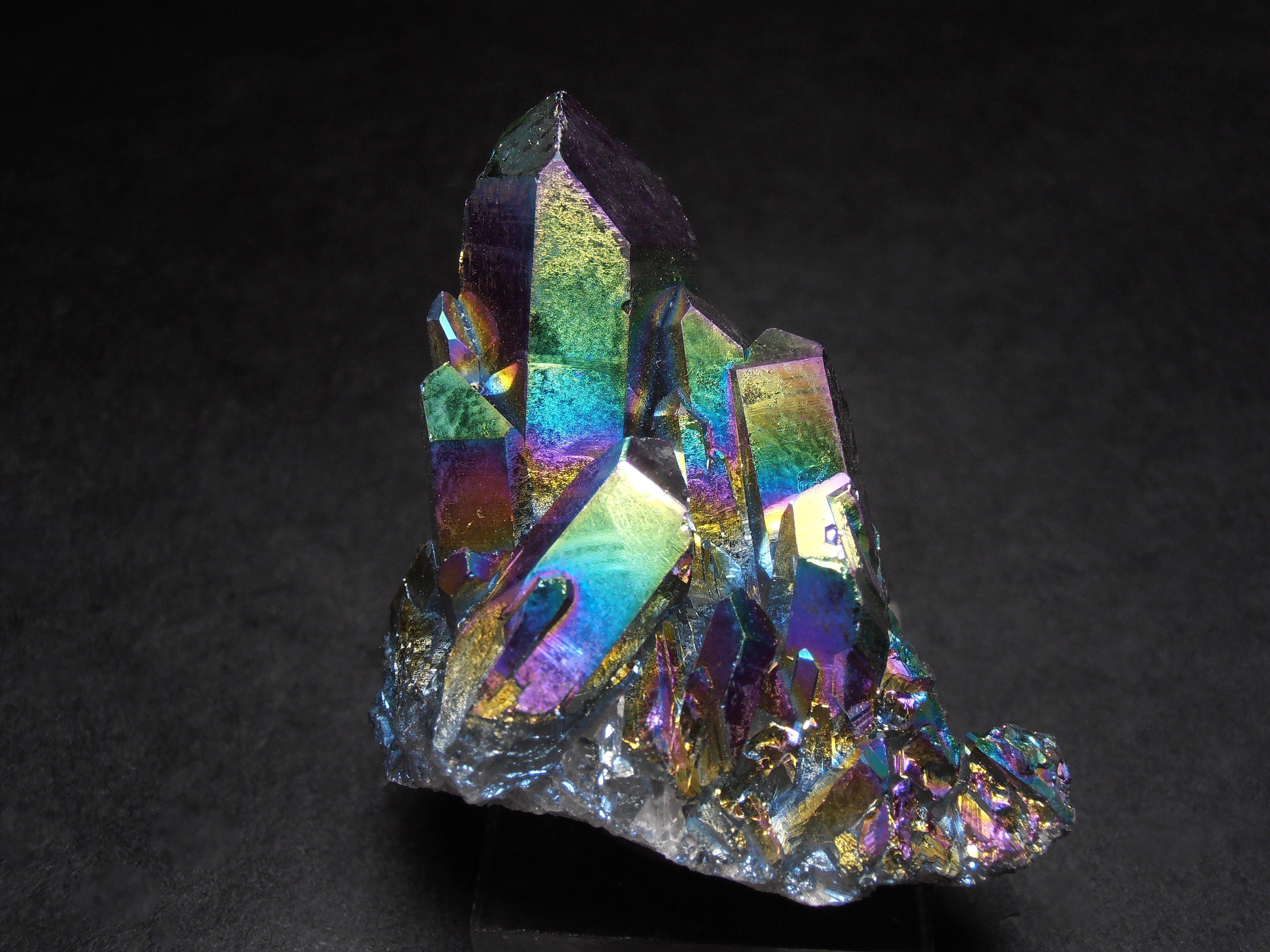 Titanium Aura Quartz Crystals