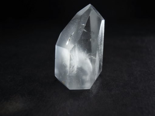 polished blue quartz point