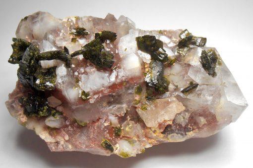 epidote on hematic quartz china