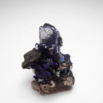 Azurite - Aesthetic Crystals from the Milpillas Mine, Sonora