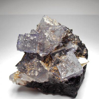 calcite on fluorite on sphalerite elmwood mine