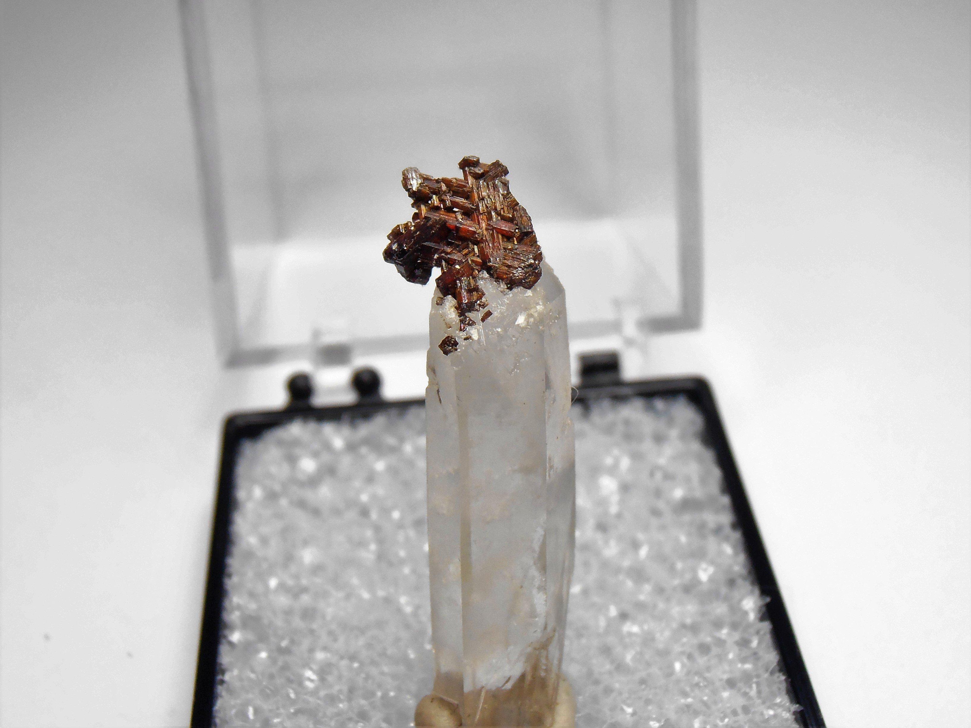 Rutile on Quartz from Diamantina in Minas Gerais