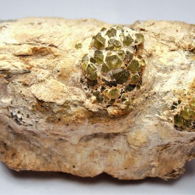 Demantoid Garnets from the Malenco Valley, Valtellina