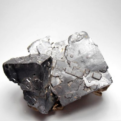 Galena Crystals with twinned Habits from Picher Field