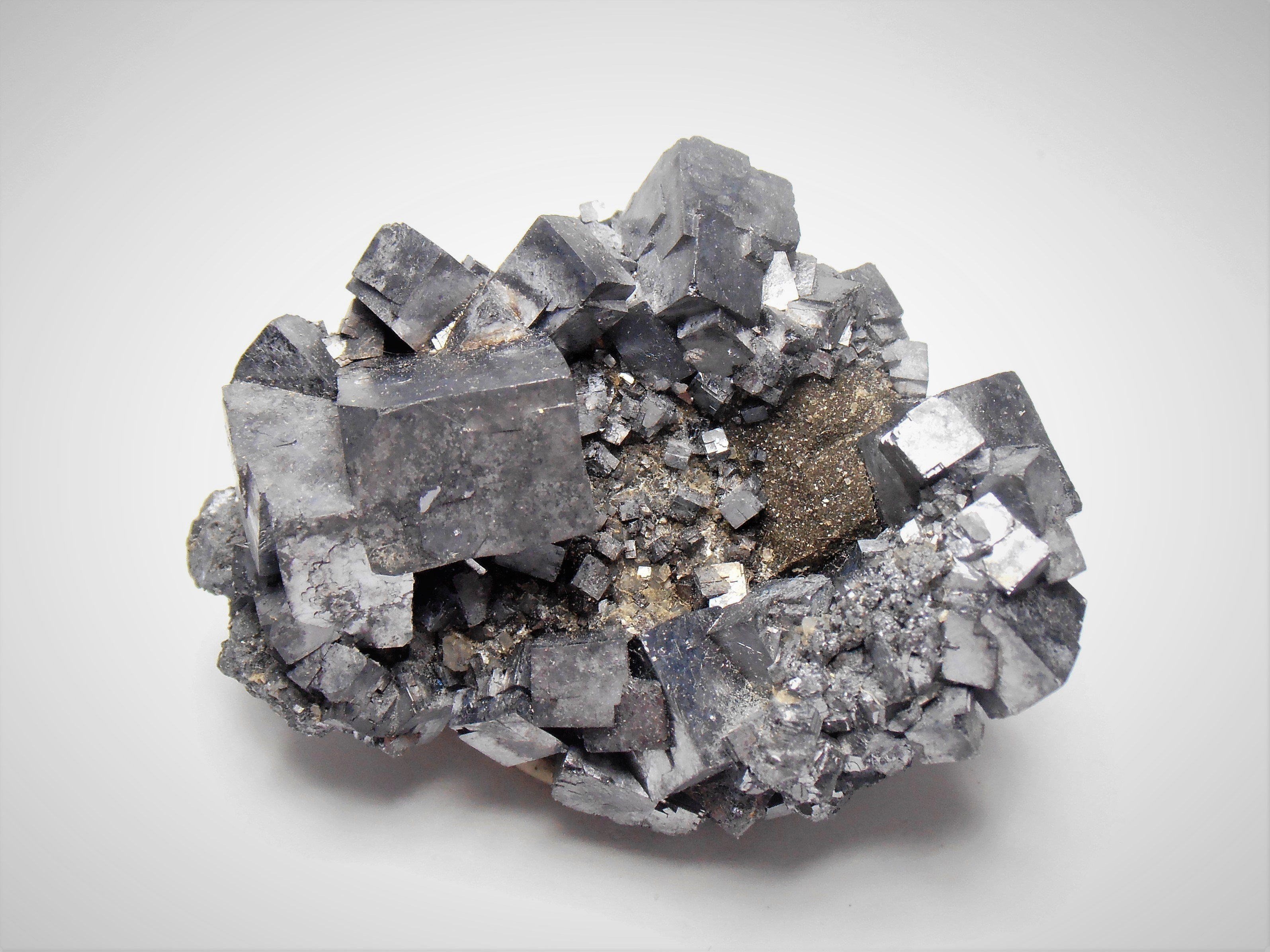 Galena - Cubic Crystals from the Sweetwater Mine, Missouri
