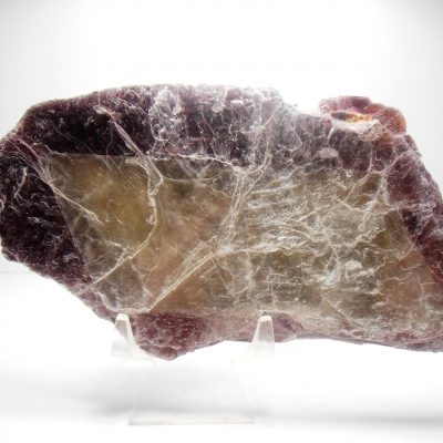 Lepidolite - Large Book with Rhombic Phantom