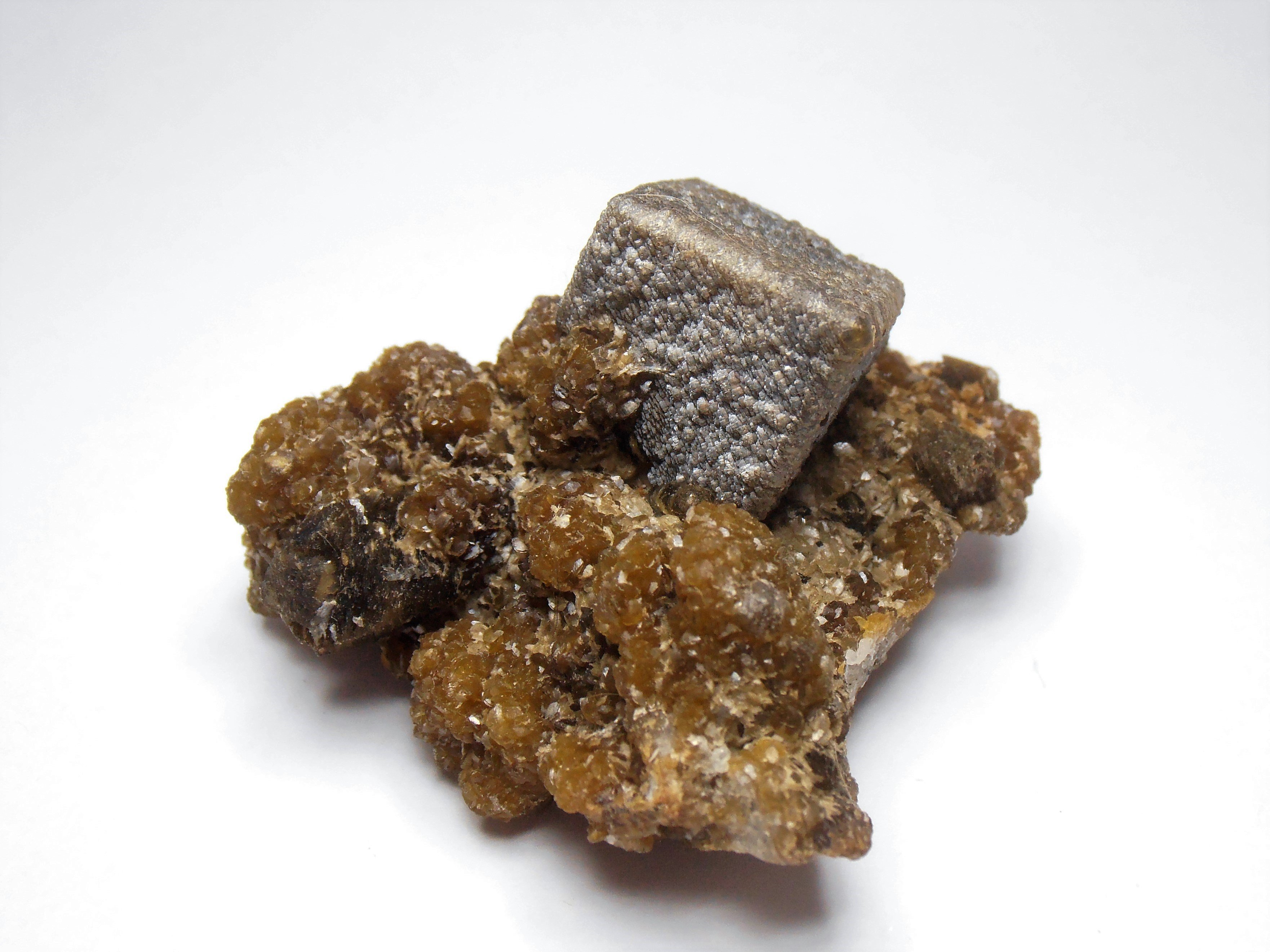 Siderite - Chatoyant Rhombic Crystals from the Julcani District