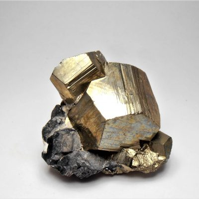 Pyrite Crystals - Mirror Luster - from the Huanzala Mine
