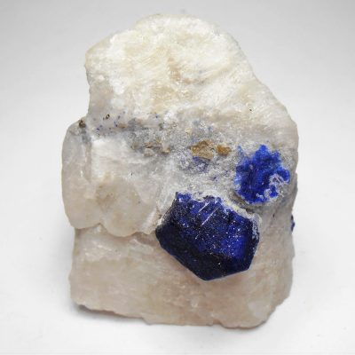 Lazurite ( Lapis Lazuli ) on Marble from the Kokcha Valley