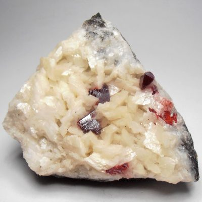 Cinnabar Crystals on Dolomite from the Sichuan Province