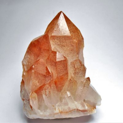Quartz With Orange Inclusions - Diamantina, Minas Gerais