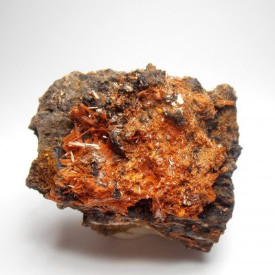 Crocoite Crystal Cluster from the Red Lead Mine