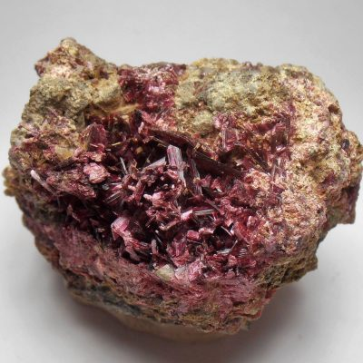Erythrite - Prismatic Crystals from Aghbar, Tazenakht