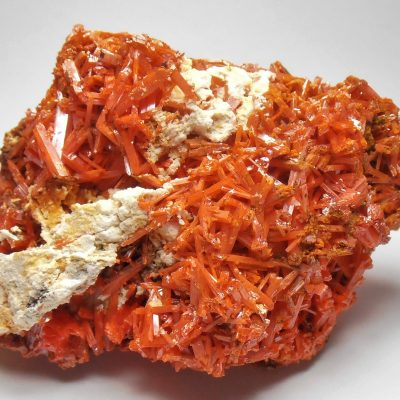 Crocoite Crystals from the Adelaide Mine, Dundas