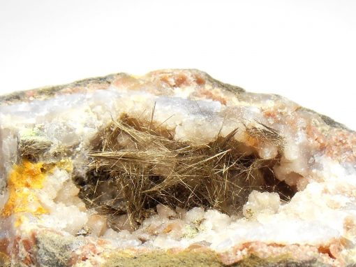 Millerite filled Geode from Halls Gap