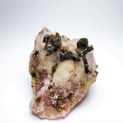 Epidote on Hematic Quartz from the Honquizhen Quarry