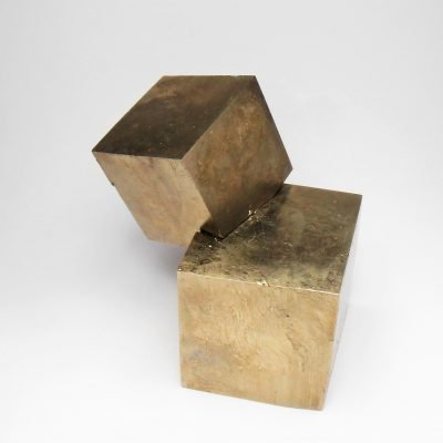 Pyrite from Navajuin, La Rioja - Stacked Cubic Crystals