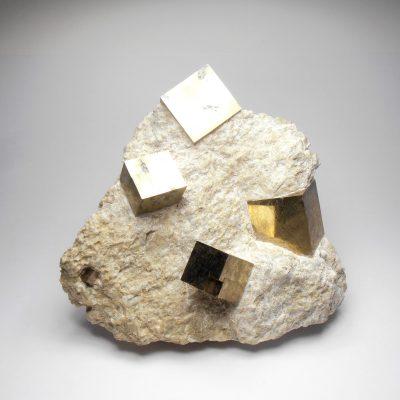 Pyrite - Sharp Cubic Crystal - Navajuin, La Rioja