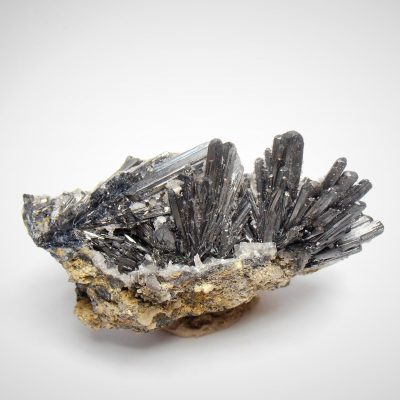 Stibnite with Barite from the Herja Mine, Maramares Co.