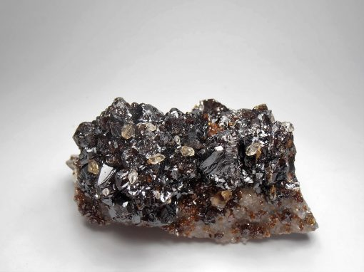 Calcite on Sphalerite from the Elmwood Mine, Tennessee