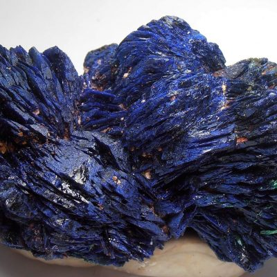 Azurite Crystal Rosettes from the Huangshi Prefecture, Hubei