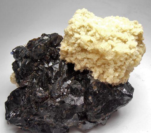 Barite on Sphalerite with Fluorite - Elmwood Mine