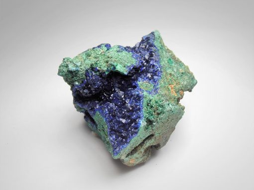 Azurite with Malachite from the Anhui Province