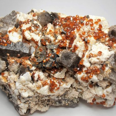 Spessartine and Smokey Crystals from the Fujian Province
