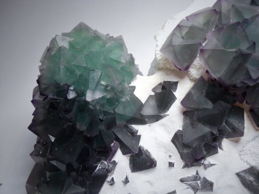 Fluorite - Octahedral Crystals from the De'an Mine, Jiangxi Province