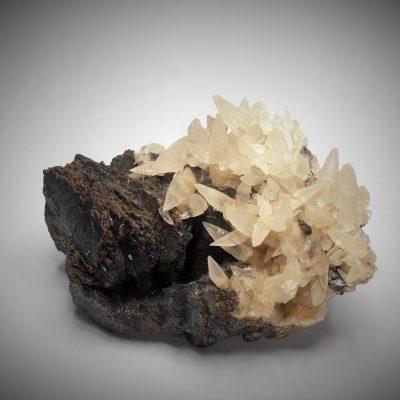 Calcites on Sphalerites - Denton Mine, Cave In Rock, Illinois