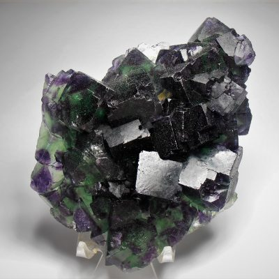 Fluorite - Emerald with Violet Phantoms - Okorusu Mine