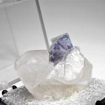 Fluorite on Quartz from the Yaogangxian Mine, Hunan