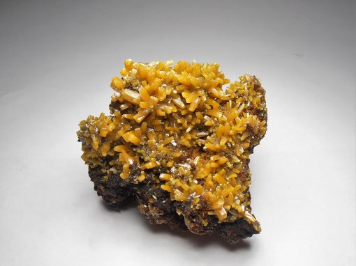 Wulfenite - Elongated Crystals from San Juan Poniente, Mapimi