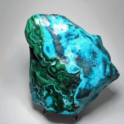 Chrysocolla & Malachite from the Katanga Copper Crescent