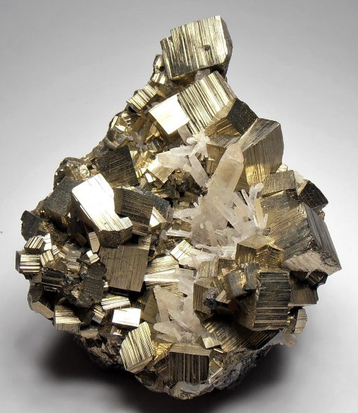Pyrite with Quartz from the Huaron Mining District