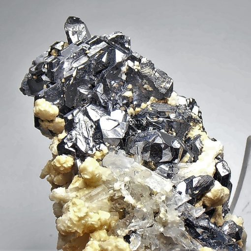 Galena - Spinel Twinned Crystals - Huaron