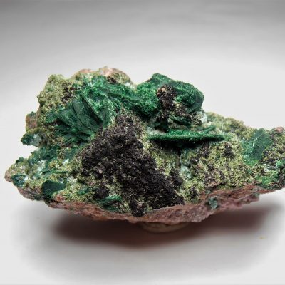 Heterogenite, Conichalcite, Malachite Mix - Mashamba West Mine