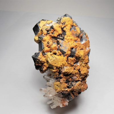 Orpiment on Galena Crystal Mix - Palomo Mine