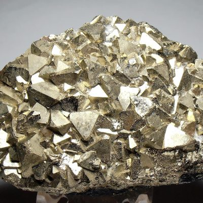 Pyrite - Brilliant Octahedral Crystals from the Huanzala Mine