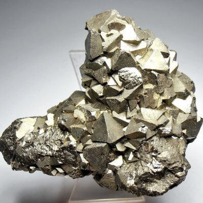 Pyrite - Octahedral Crystals from the Huanzala Mine