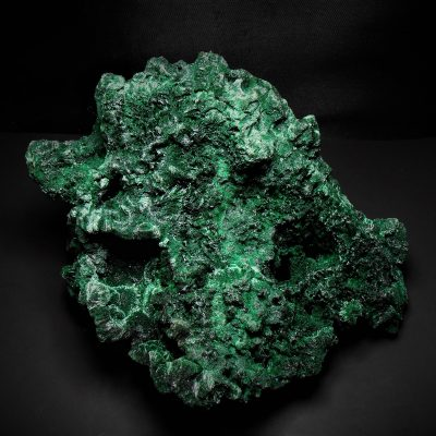 Malachite - Large Fibrous Crystal Display - Katanga Copper Crescent