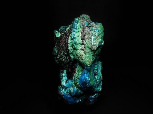 Chrysocolla, Heterogenite & Copper mineral Mix - Star of the Congo