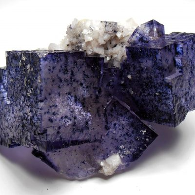 Fluorite with Dolomite from the Elmwood Mine, Tennessee