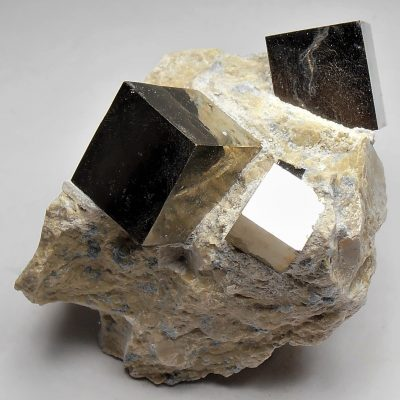 Pyrite - Bright Golden Crystals from Navajuin