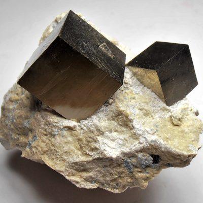 Pyrite - Bright Golden Crystals from Navajuin