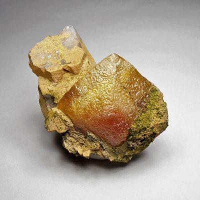 Wulfenite - Extremely Large Crystal on Quartz - Onderra Mine