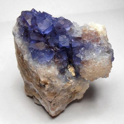 Fluorite - Natural Blue Fluorite from the Blanchard Mine