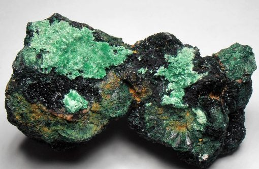 Brochantite on Atacamite - Mount Gunson Copper Mines, South Australia
