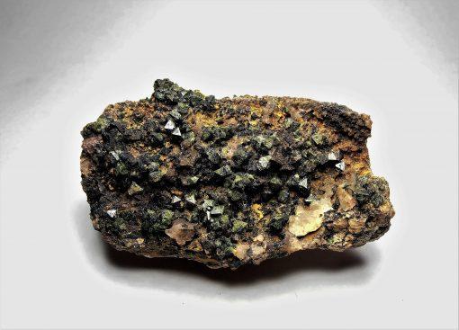 Libethenite - Large Crystals with Uranium Minerals - Kambove District